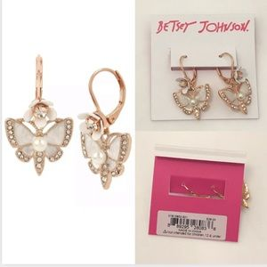 Betsey Johnson Butterfly Earrings JB3